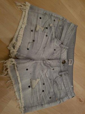 Jeansshorts grau ONLY#hotpant#nieten#Sommer
