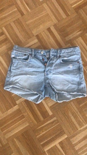 Jeansshorts High Waist Used Look Blogger Denim