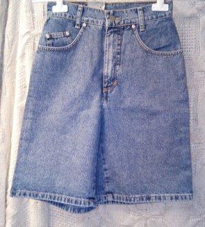 Pantalón corto de tela vaquera azul acero-azul aciano