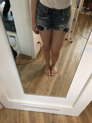 American Eagle Outfitters Hot pants blauw-staalblauw