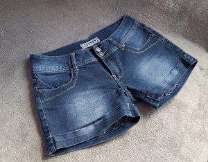 Pantalón corto de tela vaquera multicolor Algodón