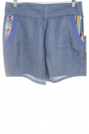 Jeansshorts Ikatmuster Boho-Look