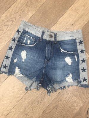 Le Lis Blanc Denim Shorts pale blue-blue cotton
