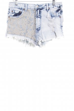 Short en jean multicolore Look de plage