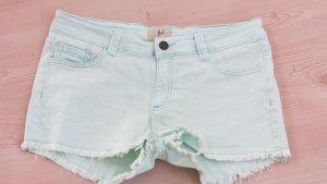 lost Denim Shorts mint cotton