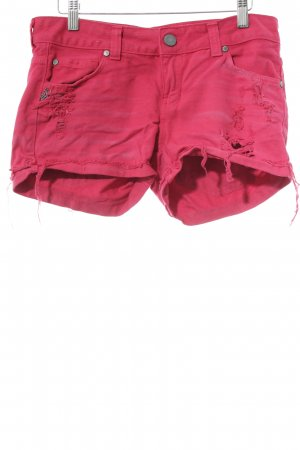 Jeansshorts rot Beach-Look