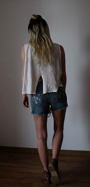 Jeansshorts Shorts Jeans XXS/32 ripped gerippt NEU