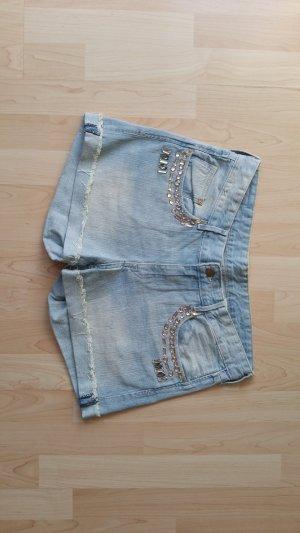 Jeansshorts Steinchen 38