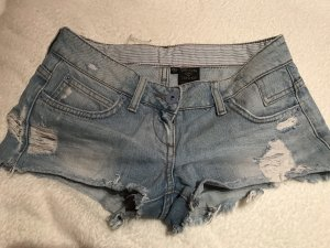 Topshop Short en jean bleu azur
