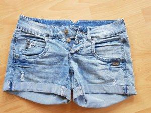 Gang Pantalón corto de tela vaquera azul neón