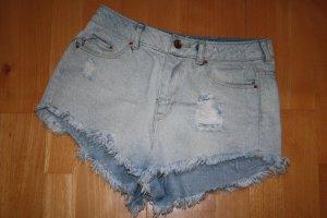 H&M Short en jean bleu pâle coton