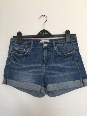 H&M Denim Shorts dark blue-blue
