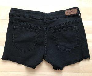 Mango Denim Shorts black-beige