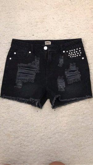 Only Denim Shorts black