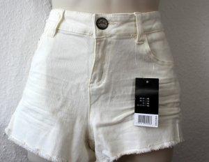Jeansshorts, weiß