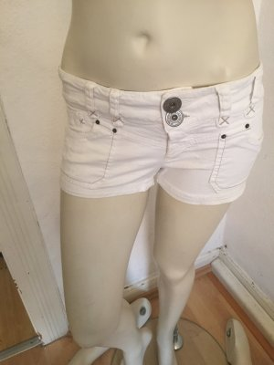 Zara Pantalón corto de tela vaquera blanco puro