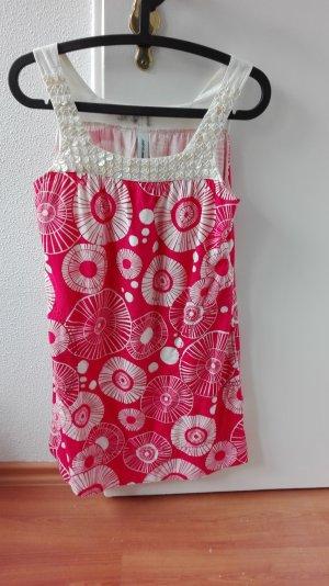 Jeanswest Sommerkleid Perlmutt Muster oversize S 36 Kleid Cocktailkleid