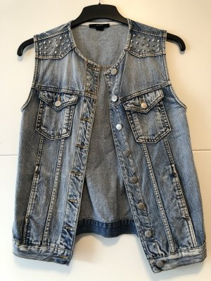 Forever 21 Denim Vest slate-gray