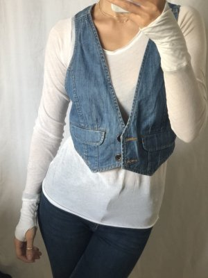 Review Gilet en jean multicolore
