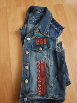 Gina Tricot Denim Vest multicolored
