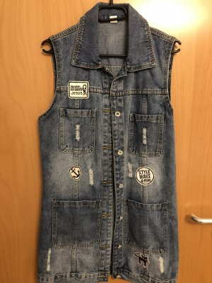 Denim Vest cornflower blue