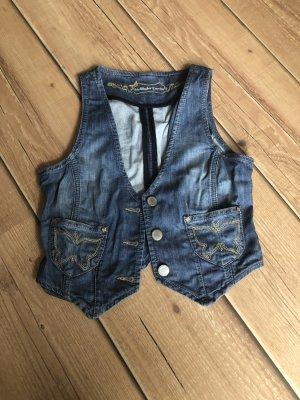 Hallhuber Gilet en jean bleuet