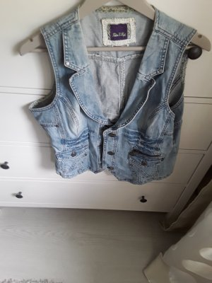 Street One Denim Vest slate-gray