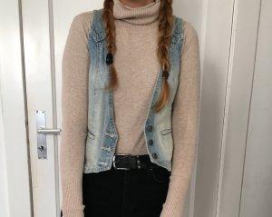 H&M Gilet en jean bleu azur