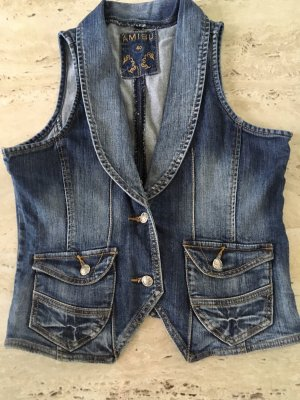 Amisu Denim Vest multicolored