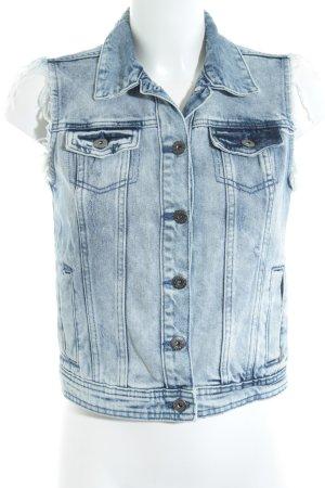 Jeansweste blau Jeans-Optik