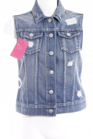 Denim Vest blue jeans look