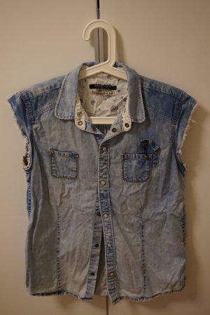 Jeansweste / Bluse im used look