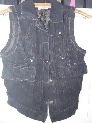 Sexy Woman Smanicato jeans antracite-blu scuro