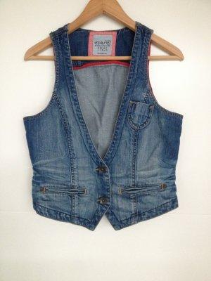 Esprit Denim Vest blue cotton