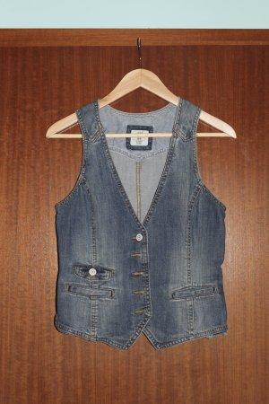 H&M Gilet en jean gris ardoise