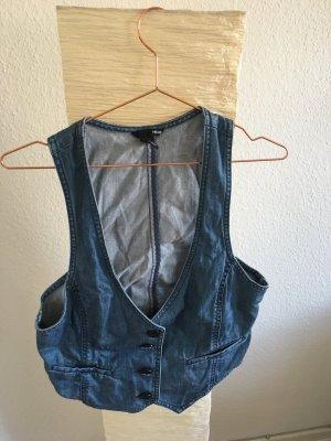 H&M Smanicato jeans blu Cotone