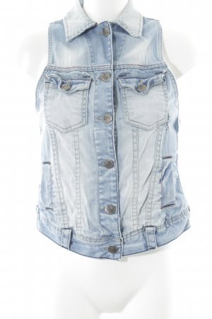 Denim Vest azure-white casual look