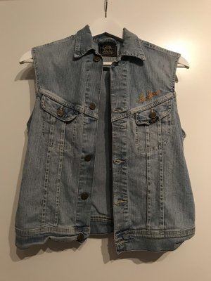 Vintage Denim Vest light blue-azure