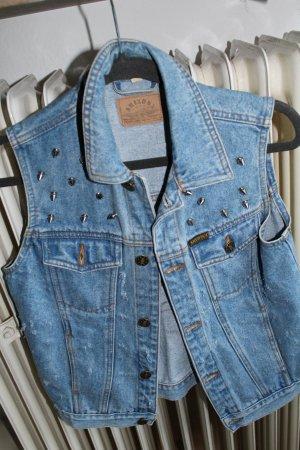 Smanicato jeans blu neon-blu acciaio