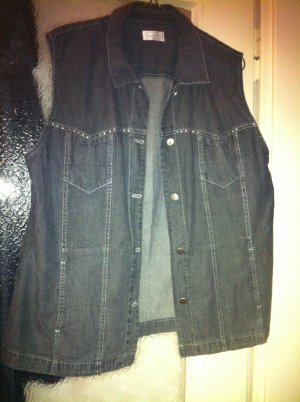 Bonita Denim Vest dark grey cotton
