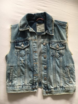 Pull & Bear Denim Vest multicolored