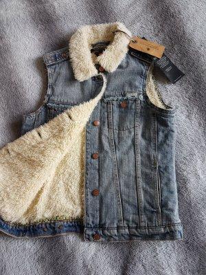 Jeansweste von Mason Scotch mit Fell