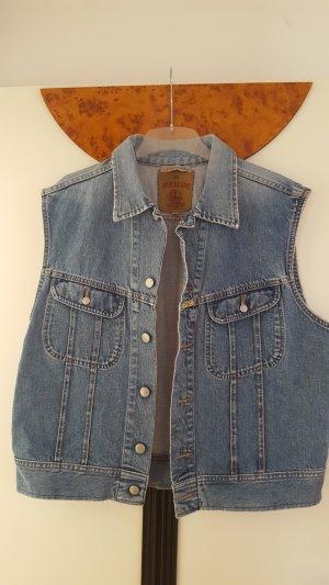 Replay Gilet en jean bleuet-bleu fluo coton