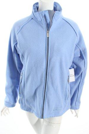 Jeantex Fleecejacke himmelblau sportlicher Stil