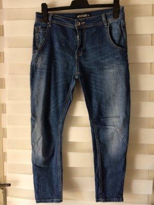 Pantalon 3/4 bleu azur-bleu foncé
