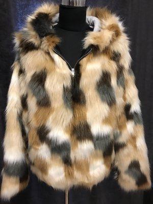 Giacca di pelliccia multicolore