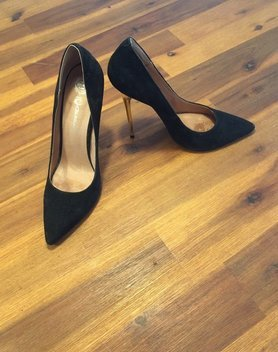 Jeffery Campell Pumps mit goldenem Absatz