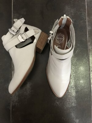 Jeffrey Campbell Stivaletto cut out bianco-bianco sporco