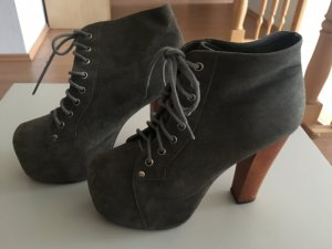 Jeffrey Campbell 38 grau High Heels Hohe Schuhe Boots Ankle