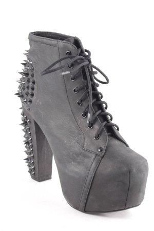 Jeffrey Campbell Absatz Stiefel schwarz extravaganter Stil